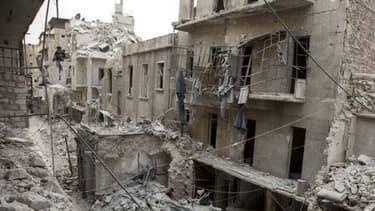 Plus de 500 combattants et 130 civils ont été tués en moins d'une semaine dans la bataille d'Alep, photographiée ici en mai dernier - AFP