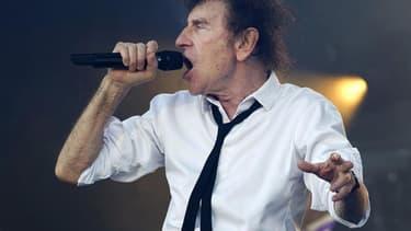 Le chanteur Alain Souchon aux Vieilles Charrues en juillet 2016