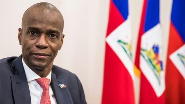 Le président haïtien Jovenel Moïse à Port-au-Prince, le 22 octobre 2019
