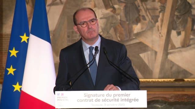 Le Premier ministre Jean Castex en déplacement à Toulouse (Haute-Garonne), le 9 octobre 2020.