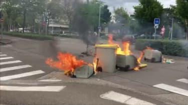 De nouvelles tensions ont éclaté à Dijon (Côte-d'Or), le 15 juin 2020.