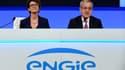 La directrice générale d'Engie, Isabelle Kocher, et le président, Jean-Pierre Clamadieu.
