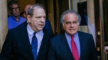 Harvey Weinstein et Benjamin Brafman le 9 juillet à New-York.
