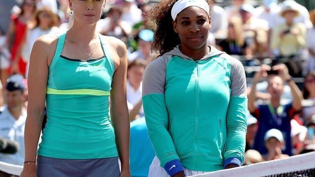 Maria Sharapova et Serena Williams