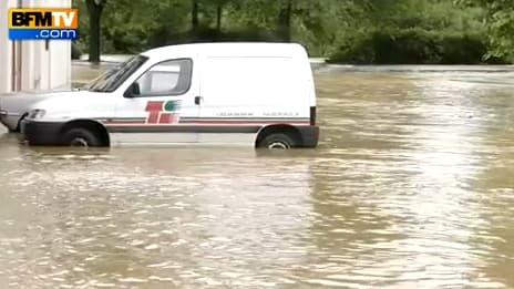A Bidart, les inondations ont fortement touché la population.