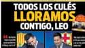 La une du journal Sport avec les larmes de Lionel Messi