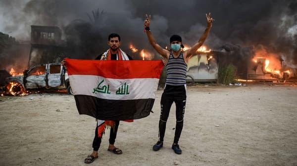 Manifestation contre la classe politique irakienne à Nasiriyah, le 25 octobre 2019