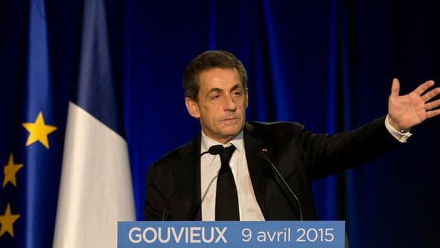 Nicolas Sarkozy, le 9 avril 2015