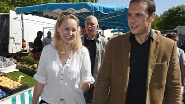 Le candidat Front national Joris Hebrard soutenu par la députée FN Marion Maréchal-Le Pen.