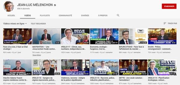 Jean-Luc Mélenchon, parlementaire le plus suivi sur YouTube