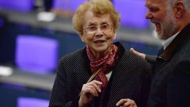 Herlind Kasner, la mère de la chancelière allemande, en mars 2018.
