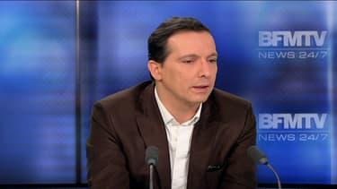 Guy Alvès, ex-chef de cabinet de Jean-François Copé et actuel patron de la société Bygmalion sur le plateau de BFMTV le 27 février 2014.