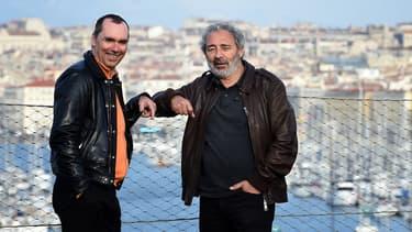 """Pascal Breton et Dan Franck, respectivement producteur et scénariste de la série """"Marseille"""""""