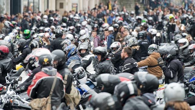 Manifestation de motards en colère à Lille, samedi 10 octobre 2015.