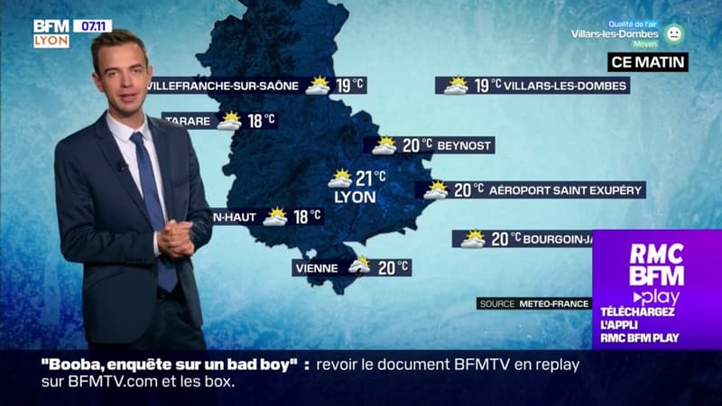 Météo à Lyon: des orages possibles dans l'après-midi, jusqu'à 26°C