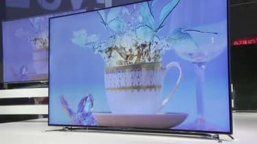 Au CES de Las Vegas, les télévisions numériques Ultra Haute Définition ont la cote. Le 11 janvier 2013.