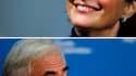 Ségolène Royal a déclaré dimanche qu'elle était prête à discuter avec Dominique Strauss-Kahn dans l'optique de la désignation du candidat du Parti socialiste à l'élection présidentielle de 2012. /Photos d'archives/REUTERS/Régis Duvignau et Tim Chong