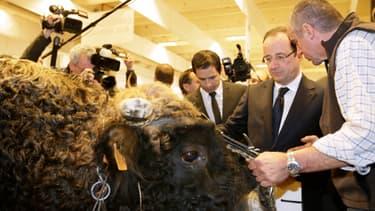 François Hollande a donné des garanties aux agriculteurs à la veille de l'ouverture du salon de l'agriculture.