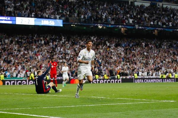 Cristiano Ronaldo lors de Real-Bayern en 2017