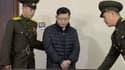 Hyeon Soo Lim, un pasteur canadien condamné aux travaux forcés en Corée du Nord, le 16 décembre 2015 à Pyongyang.