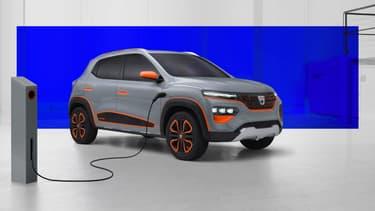 Dacia commercialisera l'an prochain en Europe une petite voiture électrique. Le constructeur dévoile le conceot ce mardi, son nom: Spring electric.