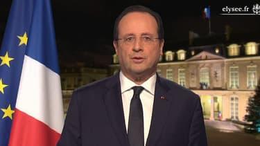 François Hollande, lors de ses voeux aux Français pour 2014.