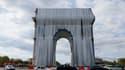 L'Arc de Triomphe empaqueté le 12 septembre 2021