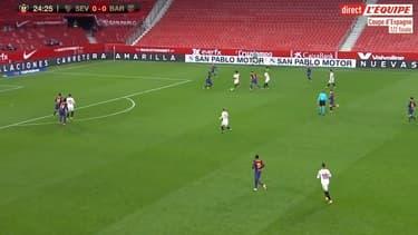 Le rush de Jules Koundé face au Barça