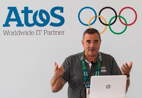"""Pour Patrick Adiba, vice-président exécutif d'Atos, en charge du programme olympique, le dispositif mis en place """"revient à créer une ville virtuelle de 200.000 habitants pour accueillir quatre milliards de touristes»"""