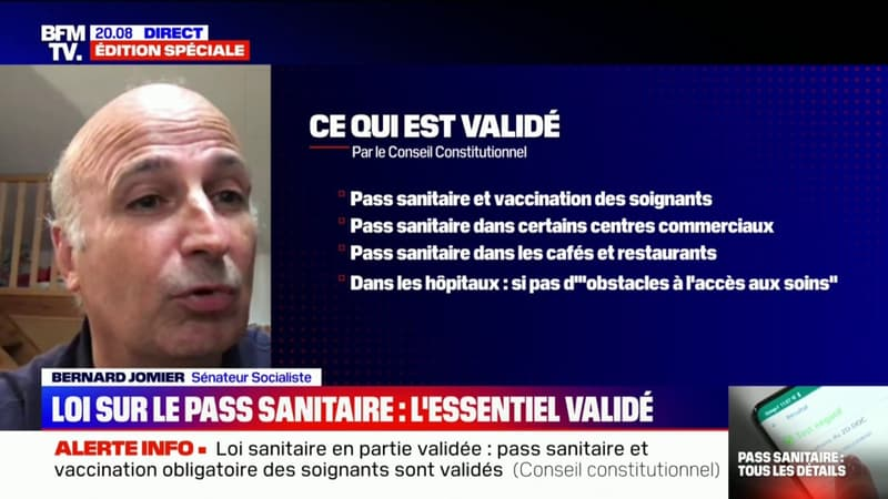 """Bernard Jomier: """"Je préfère la simplicité, la lisibilité, c'est-à-dire la vaccination obligatoire pour tous"""""""
