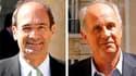 Patrice de Maistre (à droite) a écrit à Eric Woerth pour le remercier d'être intervenu en sa faveur afin de lui permettre d'obtenir la Légion d'honneur, selon le Journal du dimanche. /Photos d'archives/REUTERS/Benoît Tessier