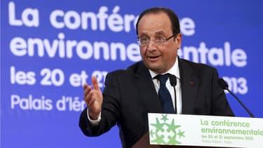François Hollande accueille au palais de l'Elysée, jeudi et vendredi, la troisième édition de la conférence environnementale.