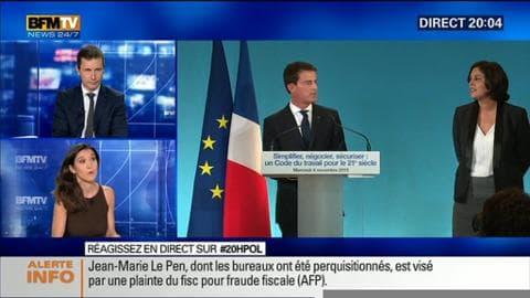 Manuel Valls a annoncé un nouveau Code du travail pour 2018