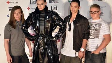 Le groupe allemand Tokio Hotel en 2011