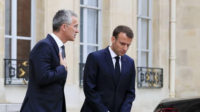 Image d'illustration - Jens Stoltenberg et Emmanuel Macron le 15 mai 2018