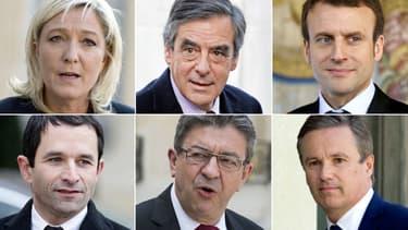 Les candidats à la présidentielle.