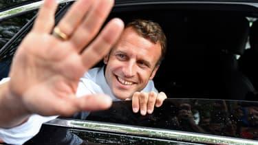 Emmanuel Macron à Bormes-les-Mimosas, le 27 juillet 2019.