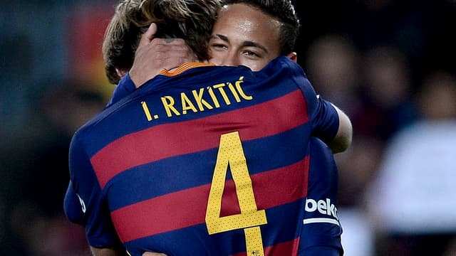 Rakitic et Neymar