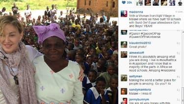 Madonna étale sa générosité  l'égard du malawi sur les réseaux sociaux.