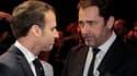 Emmanuel Macron et Christophe Castaner.