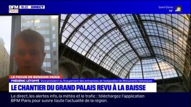 """Rénovation du Grand Palais: """"Il y a des parties qui sont très très abimées"""""""