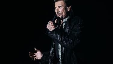 Johnny Hallyday sur scène.