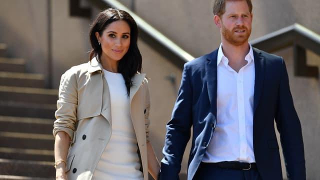 Meghan et le prince Harry, en octobre 2018 à Sydney .