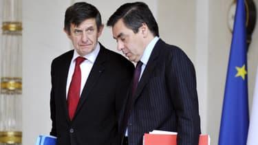 Jean-Pierre Jouyet et François Fillon, ici en 2008.