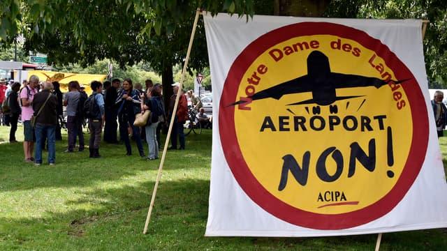 Manifestation contre la construction de l'aéroport de Notre-Dame-des-Landes, à Nantes le 18 juin 2015.