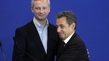 Bruno Le Maire et Nicolas Sarkozy