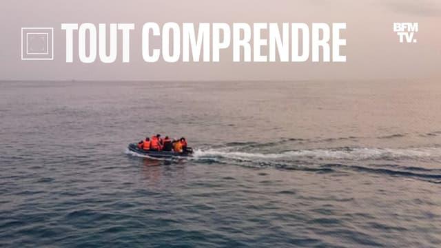 Des migrants traversant la Manche (illustration)