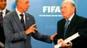 Johan Cruyff et Sepp Blatter
