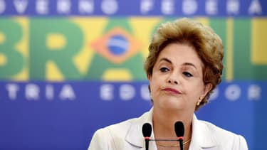 Dilma Rousseff, le 12 avril 2016.