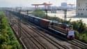 L'arrivée du train à Yiwu, près de Shanghai